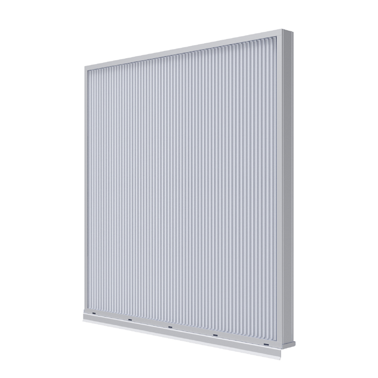 "New 3"" vertical stationary louver from Ruskin"