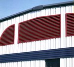 Louvers for metal buildings
